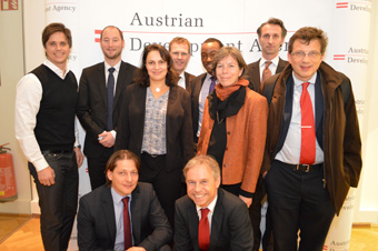 group-photo of participants,1st row from left: Lugmayr, UNIDO; Tritscher, EnTri